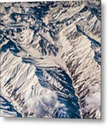 Aerial View Of The Mountains Metal Print