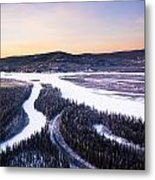 Aerial View Of The Tanana River Valley Metal Print