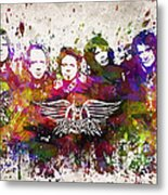 Aerosmith In Color Metal Print by Aged Pixel