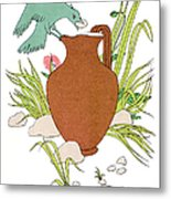 Aesop: Crow & Pitcher Metal Print