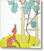 Aesop: Fox And Grapes Metal Print