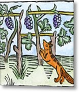 Aesop The Fox & The Grapes Metal Print