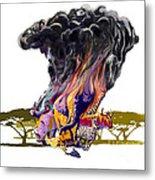 Africa Up In Smoke Metal Print
