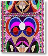 African Art Style Mascot Wizard Magic Comedy Comic Humor  Navinjoshi Rights Managed Images Clawn    Metal Print by Navin Joshi