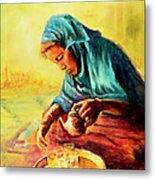 African Chai Tea Lady. Metal Print