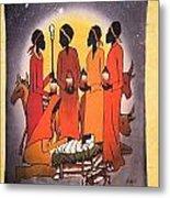 African Christmas Nativity Metal Print