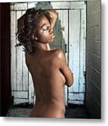 Chynna African American Nude Girl In Sexy Sensual Photograph And In Color 4788.02 Metal Print