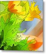 African Daisy I - Digital Paint Metal Print