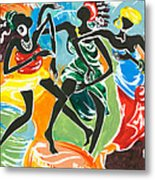 African Dancers No. 3 Metal Print