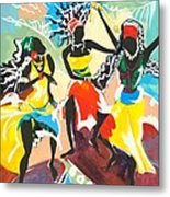 African Dancers No. 4 Metal Print