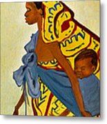 African Mother And Child Metal Print
