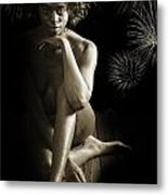 Chynna African American Nude Girl In Sexy Sensual Photograph And In Black And White Sepia 4791.01 Metal Print