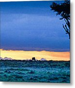 African Panoramic Sunset Landscape Metal Print