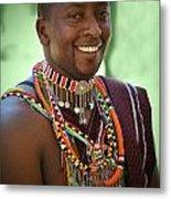African Smile Metal Print