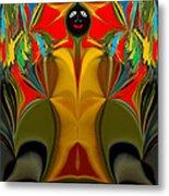Afro Art Metal Print