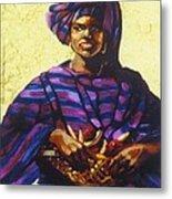 Afro Caribe Fruit Baskit Metal Print