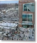 After A Winter Packers Game Metal Print