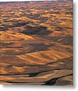 After Harvest From Steptoe Butte Metal Print by Latah Trail Foundation