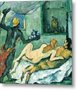 After Lunch In Naples By Cezanne Metal Print