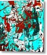 After Pollock Metal Print