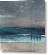 After The Storm- Abstract Beach Landscape Metal Print