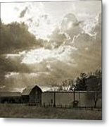 After The Storm On The Farm Metal Print