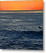 After The Sunset Glow In La Jolla Metal Print