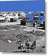 Aftermath Of Pancho Villa's Raid #2 At Columbus New Mexico On March 9 1916-2013  Metal Print
