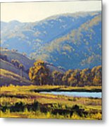 Afternnon Light Lithgow Metal Print