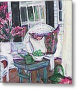 Afternoon At Emmaline's Front Porch Metal Print