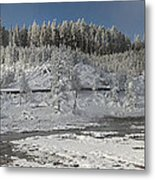 Afternoon At Mud Volcano Area - Yellowstone National Park Metal Print