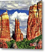 Afternoon Cathedral Rocks Saddle View Red Rock State Park Sedona Arizona Metal Print