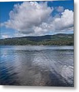 Afternoon Clouds Over Big Lagoon Metal Print