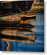 Afternoon Friendship  Reflection Metal Print