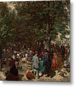 Afternoon In The Tuileries Gardens Metal Print