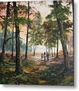 Afternoon Ride Through The Forest Metal Print