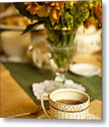 Afternoon Tea Time Metal Print