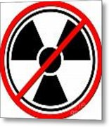 Against Atom Metal Print