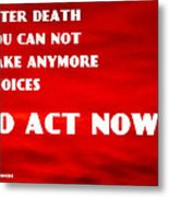 Against Suicide Metal Print