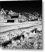 Against The Mountains Metal Print