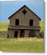 Against The Wind Abandoned Homestead Metal Print