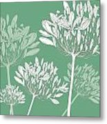 Agapanthus Breeze Metal Print