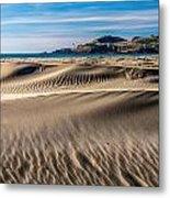 Agate Beach Dunes And Yaquina Head Light Metal Print by Greg Stene