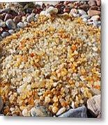 Agate Rock Garden Art Prints Coastal Beach Metal Print by Baslee Troutman
