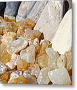 Agate Rocks Beach Art Prints Agates Metal Print