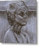 Aged Woman Metal Print