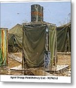 Agent Orange Field Delivery Unit Metal Print