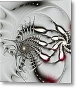 Aggressive Grey Metal Print