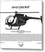 Ah-6j Little Bird Metal Print by Arthur Eggers