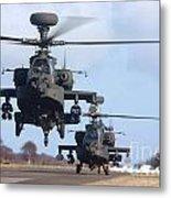 Ah64d Apache Longbow Helicopters  Metal Print